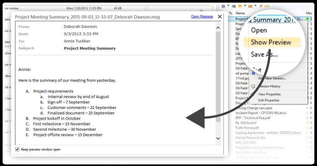 email berichten archiveren