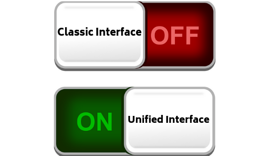 Classic Interface - Unified Interface